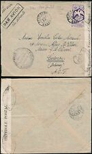 FRENCH AFRICA 1940 GABON to DAHOMEY BENIN 4F BIRD SOLO AEF CENSOR AIRMAIL