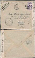 L'Afrique française 1940 Gabon à Dahomey Bénin 4F oiseau solo AEF censurer airmail