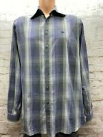 Burberry London Mens Multicolored Stripe Dress Shirt Size 16.5R 16.5 42