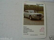 31-CARS/AUTO 5C MAZDA 929 KWARTET KAART, QUARTETT CARD,