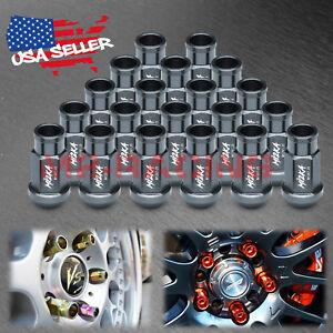 Gunmetal 20pcs M12X1.25 Short Lug Nuts For Nissan Rouge Altima 370z 350z WN01