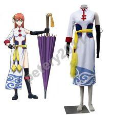Gintama Cosplay Costume Halloween Japan  8th Anime Kagura Kimono