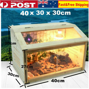 E27 Screw Heat Cage Turtle Crab Tank Lizard Frog Snake Reptiles Enclosure AU