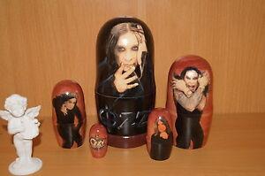 Ozzy Osborne Nesting doll Stacking Handmade Ozzy Black Sabbath Art Matryoshka