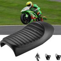 Cafe Racer Motorrad Sitzbank Sattel Sitz Kissen schwarz für Honda Yamaha 53*25cm