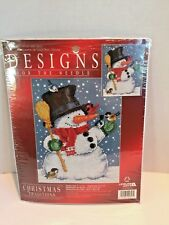 Designs For The Needle Snowman with Birds Christmas Counted Cross Stitch Kit