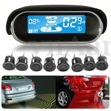 Dual-core Rear/Front LCD Display + 8 Parking Sensor Reverse Backup Radar System