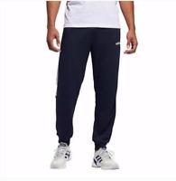 New Men's Adidas Joggers Sweatpants Navy Blue White Striped Loungewear