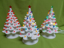 "Ceramic Bisque Christmas Tree 10"" tall -Ready to paint-for one complete tree"