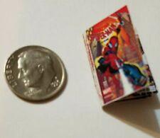 Miniature dollhouse book 1/12  Comic Book Tv show Spider-Man Action Figure