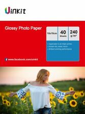 4x6 Glossy Photo Paper 240Gsm For Inkjet Paper Printing 6x4 - 160 Sheets Uinkit