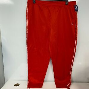 Champion Womens Red Flame Logo Tape Active Track Pants Plus Size 3X $55