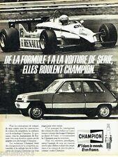 PUBLICITE ADVERTISING 106  1983  les bougies Champion  Formule  1