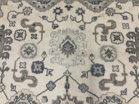 8x10 MUTED WOOL RUG HAND KNOTTED OUSHAK new persian handwoven oriental blue gray