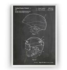 Snowboard y esquí casco 2000 Regalo Decoración Póster de impresión de patentes - - Sin Enmarcar