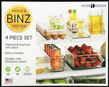 InterDesign Fridge & Freezer Storage Box/Trays/Holder 4 Pc Set