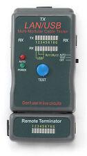 Comprobador de Cable RJ45 RJ11 USB Ethernet Tester