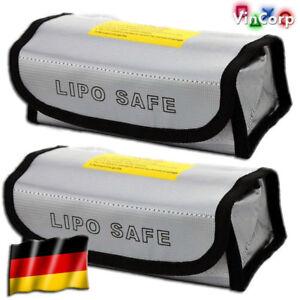 2x 185 x 70 x 60 mm Lipo Akku Guard Safe Safety Bag Tasche Ladetasche feuerfest
