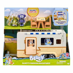 Bluey's Caravan Adventures Playset with Jean Luc Accessories Stickers Kids Toy