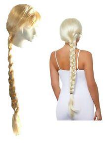 Wig Blonde Long Women Braid Long Plaited Blonde Princess Costume Wig