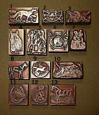 13 FOX HUNTING. HORSE & HOUNDS. EQUESTRIAN. ETC Printing Blocks.