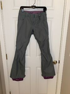Burton Women's Shawn White Edition Slim Snowboarding Pants Size XS Light Gray