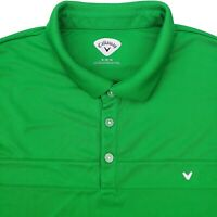 Callaway Opti Dri Men's Golf Polo Shirt Short Sleeve XLarge Green  Polyester