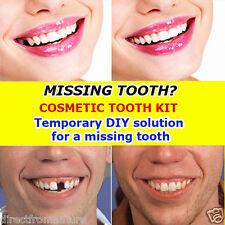 False teeth temporary cosmetic missing teeth filler