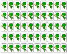 "50 Great Gazoo ( Flintstones ) Envelope Seals / Labels / Stickers, 1"" by 1.5"""