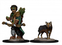 WizKids Wardlings Miniatures: Boy Ranger and Wolf