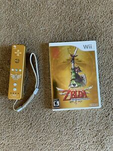 Legend of Zelda: Skyward Sword (Wii), w/ soundtrack and gold Wii-Remote