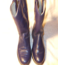 Women's Texas medium Blue Leather Western Roper Boots US Sz  5.5 M  NEW
