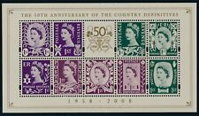 2008 GB COUNTRY DEFINITIVES 50th ANNIVERSARY MINI SHEET FINE MINT MNH SGMSNI153