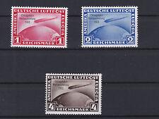 1933 Chicagofahrt Graf Zeppelin Wunderschöner Satz 496 - 498 ANSEHEN