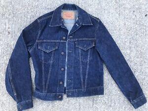 Vintage 1960's LEVIS Big E 557 Denim Jacket Type 3 38 70505-0217 RARE