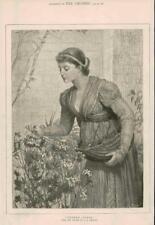 1881 ANTICA STAMPA FINE ART foto GARA se ne frega CE Perugini Ragazza (198)