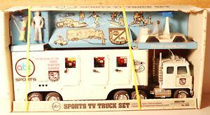 DTE VINTAGE NYLINT PRESSED STEEL # 960 ABC SPORTS TV TRUCK SET NIOB