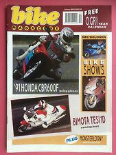 BIKE - February 1991 - Honda CBR600F - Bimota Tesi 1D - OGRI Calendar - Magazine
