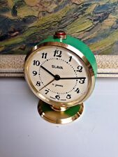 Vintage Mechanical Russian Alarm Clock Slava 11 Jewels Soviet Russia USSR Rare