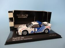 FORD RS200 #8 - GRUNDEL - RALLY SWEDEN 1986 - RARE - 1/43 MINICHAMPS 430868008