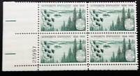 United States Block of 4 MNH Stamps Scott #1106 Minnesota Statehood 5-11-1958