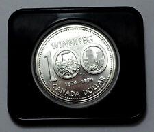 CANADA 1974 WINNIPEG 100 Years  COMMEMORATIVE SILVER DOLLAR COIN PROOF in capsul