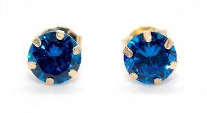 9kt Yellow Gold London Blue Topaz 1.31ct Earring (Free Gift box)