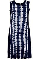 Ulla Popken ladies dress plus size 16/18 20/22 24/26 28/30 32/34 38 blue tiedye