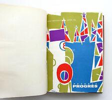 Pétrole  Progrès  - Album relié 1954-55   - Standard Française des Pétroles Esso