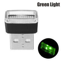1x Green Mini USB LED Wireless Lamp Car Atmosphere Light Neon Accessories