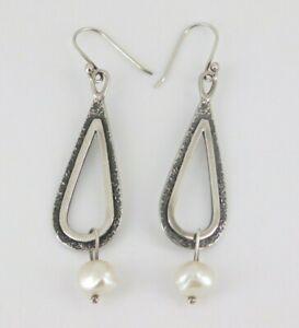 Silpada 925 Sterling Silver Pearl Earrings W1388