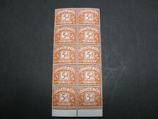 SG D72, 1969 5d orange-brown, Postage Due No Watermark  PVA Gum. MNH