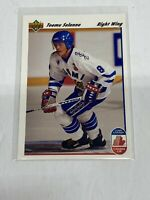 1991-92 Upper Deck Canada Cup Teemu Selanne rookie Card Winnipeg Jets