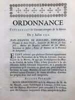 Limoux en 1751 Virus de la Morve du Cheval Vétérinaire Écurie Saint Priest